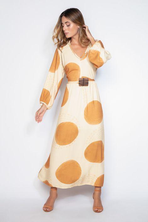Vestido-longo-decote-vazado-com-cinto-de-madeira-