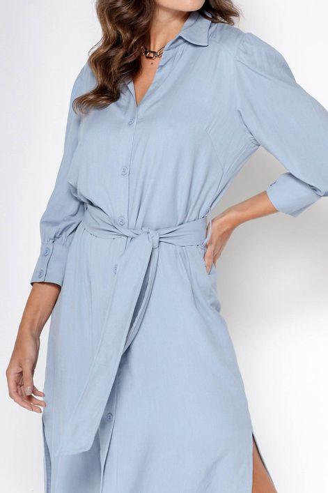 Vestido-chemise-com-faixa-na-cintura
