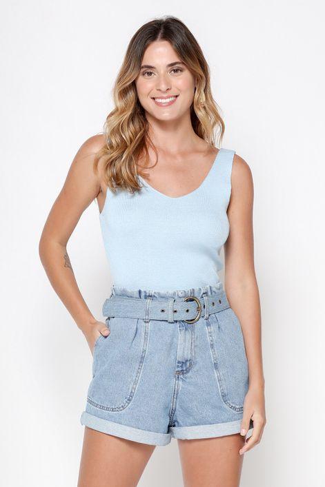 Camiseta-em-tricot-decote-V-canelado-fino