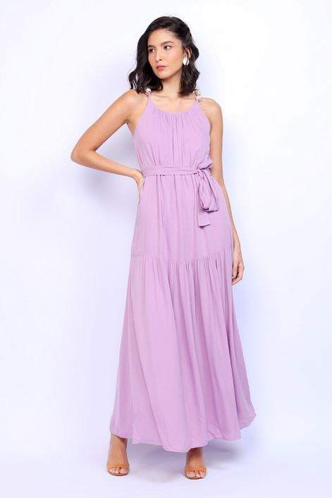 Vestido-longo-com-detalhe-na-alca-e-faixa-na-cintura