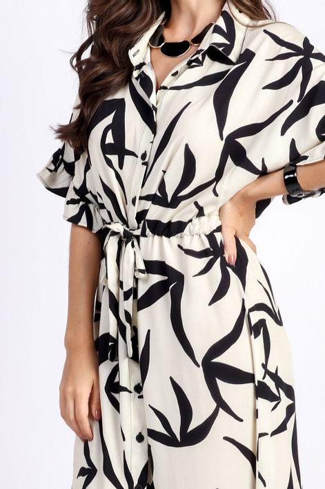 Vestido-chemise-estampa-papoula