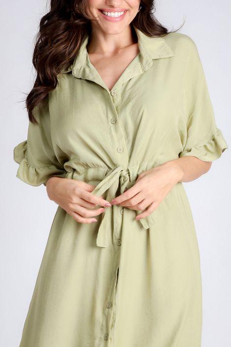 Vestido-chemise-com-manga-babados-
