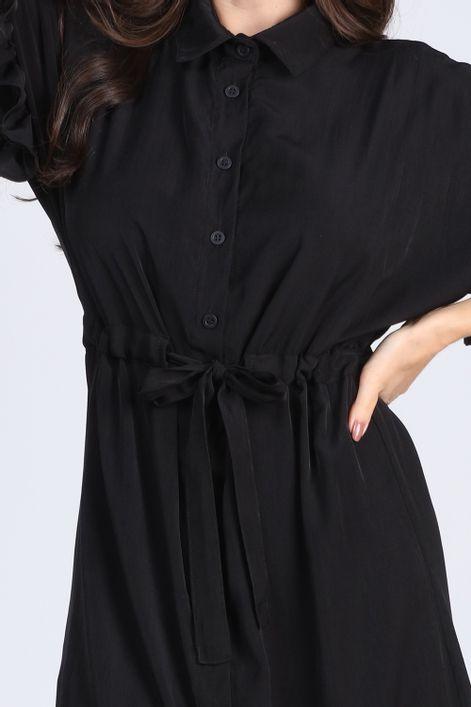Vestido-chemise-com-manga-babados