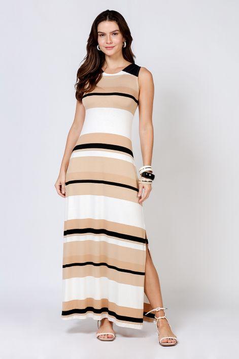 Vestido-listra-larga-color